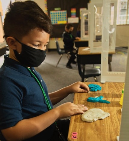 Student learning through art at Empower Language Academy